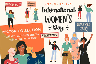 Women's Day. Vector collection