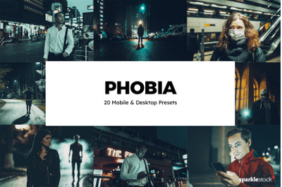 20 Phobia Lightroom Presets & LUTs