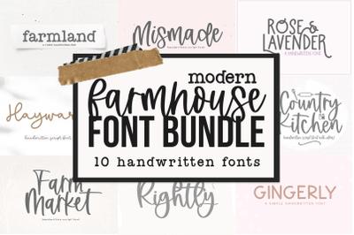 Modern Farmhouse Font Bundle