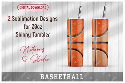 2 Basketball / Wooden court Patterns for 20oz SKINNY TUMBLER