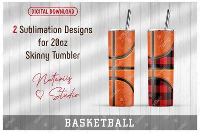 2 Basketball / Buffalo Plaid Patterns for 20oz SKINNY TUMBLER