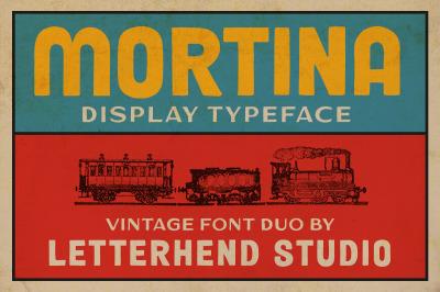 Mortina Font Duo - Display Typeface