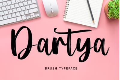 Dartya Brush Font