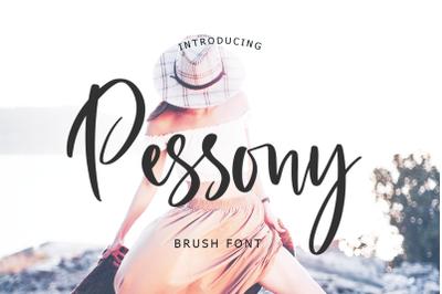 Pessony Script Font