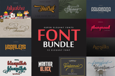 Super Elegant Font Bundle
