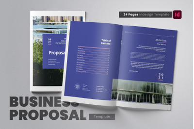 Business Project Proposal Indesign