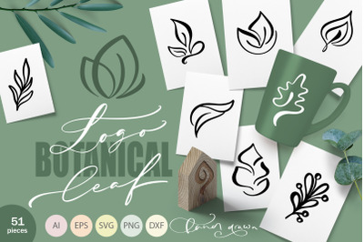 Logo Botanical Leaf SVG