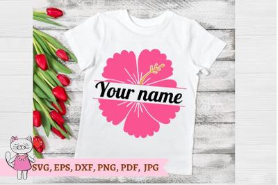 Hibiscus Monogram SVG
