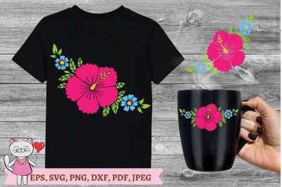 hibiscus svg file, Hawaiian flower Svg ,