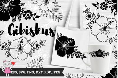 hibiscus flower svg bundle