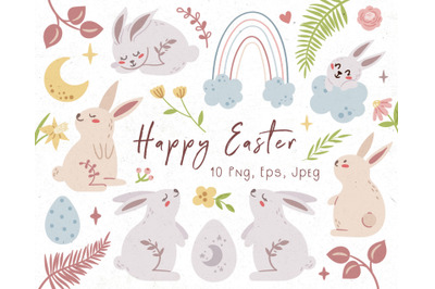 Easter Bunny kids clipart