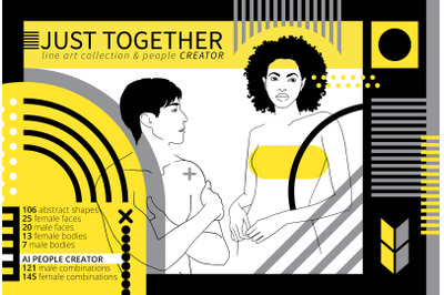Just Together. Line art and Geometry