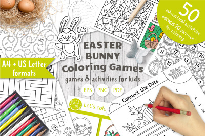 Easter Bunny Coloring Games