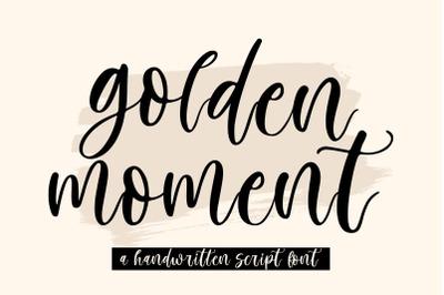 Golden Moment | Handwritten Script