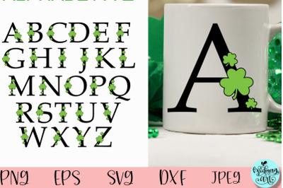 St. Patrick's alphabet monogram svg, St. Patrick's day svg