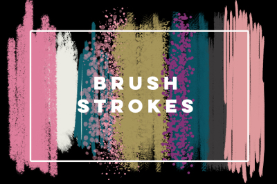 Digital watercolor brush strokes, acrylic brush, digital brush stroke, digital brush stroke, brush strokes clipart set, elements clipart