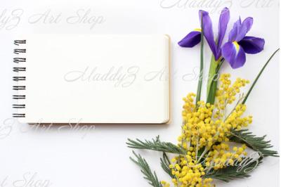 Seven Spring Flowers Mockups. JPEG