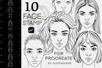 Face Stamp Brushes Procreate