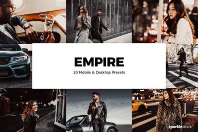 20 Empire Lightroom Presets & LUTs