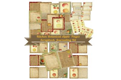 Kitchen Apples Journal Scrapbook Kit