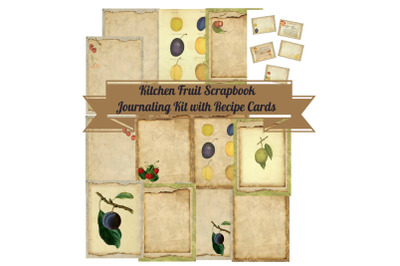 Kitchen Fruit Journal Pages Recipe Journal