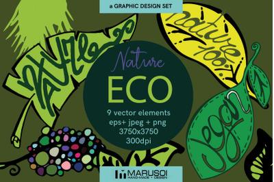 ECO nature vector