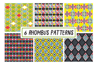 6 RHOMBUS PATTERNS