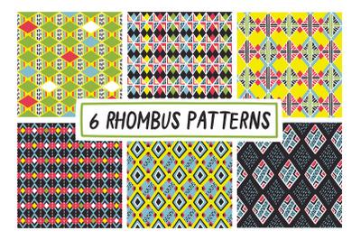 6 RHOMBUS PATTERNS