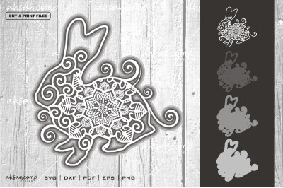 Rabbit #1 Vector SVG 3D Layered, Eps 10