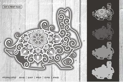 Rabbit #6 Vector SVG 3D Layered, Eps 10
