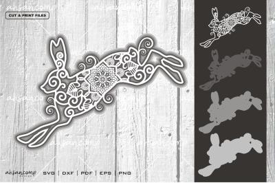 Rabbit #10 Vector SVG 3D Layered, Eps 10
