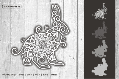 Rabbit #12 Vector SVG 3D Layered, Eps 10