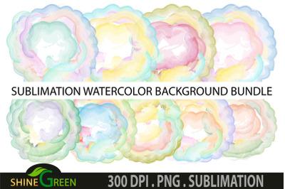 Sublimation Background Bundle - 9 Watercolor PNG Files