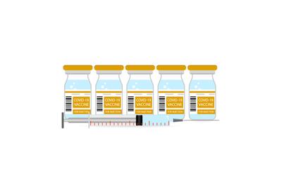 Supply vaccination, corona protection, immunization vector illustratio