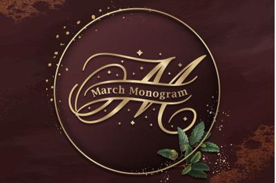 March Split Monogram
