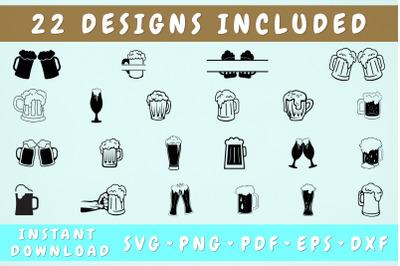 Beer Mug SVG Bundle - 22 Designs