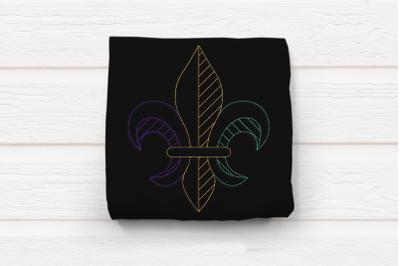 Linework Fleur de Lis | Embroidery