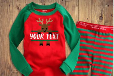 Peeking Christmas Reindeer Split | SVG | PNG | DXF | EPS