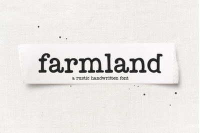 Farmland - Farmhouse Typewriter Font