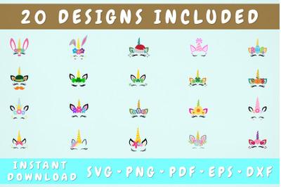 Unicorn SVG Bundle - 20 Designs