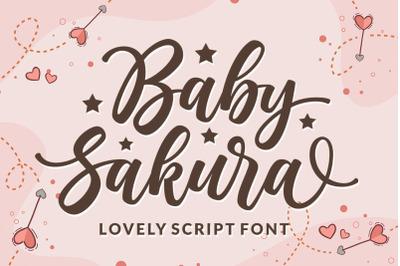 Baby Sakura - Lovely Script Font
