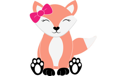 Fox svg, woodland animal svg,  animal svg, baby fox svg, girl fox svg,