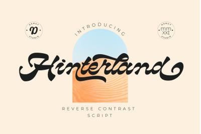 Hinterland | Reverse Contrast Script