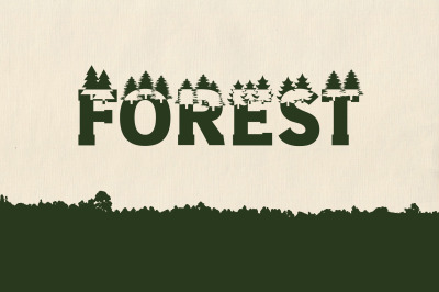 Forest Outdoors Camping Font