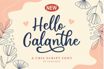 Hello Calanthe a Chic Script Font