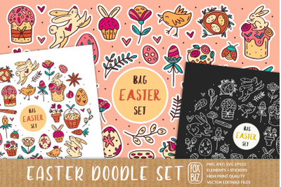 Easter chicks digital cliparts, elements, stickers