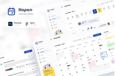 Kapan - Calendar Admin Dashboard UI