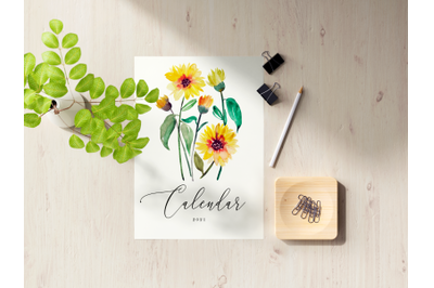 2021 Floral Watercolor Calendar