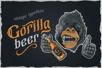 Gorilla beer - gothic typeface