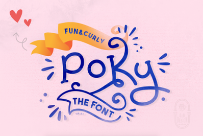 Poky, the curly font